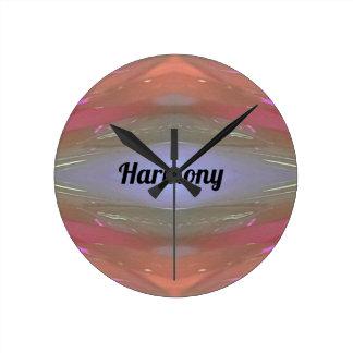 Periwinkle Peach Artistic Harmony Clock