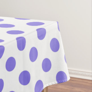 Periwinkle polka dots tablecloth