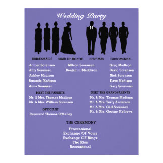 Periwinkle & Silver Heart Polka Dot Wedding Flyer