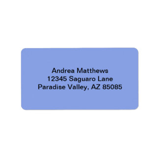 Periwinkle Solid Color Address Label
