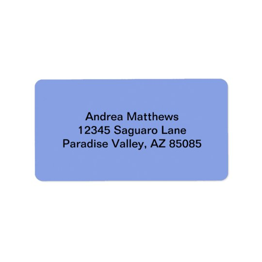 Periwinkle Solid Colour Address Label