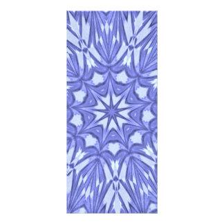Periwinkle Star Dust Kaleidoscope Customized Rack Card
