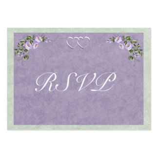 Periwinkle Wedding Invitation RSVP Insert Business Card