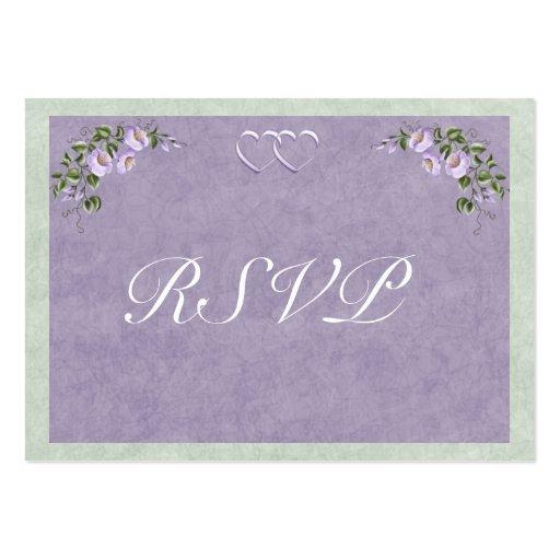 Periwinkle Wedding Invitation RSVP Insert Business Card