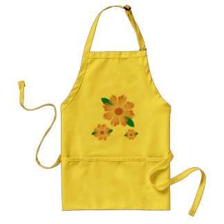Perky floral apron