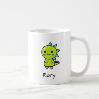 Perky Green Dinosaur Kawaii Cartoon Coffee Mug