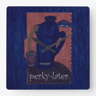 perky-later square wall clock