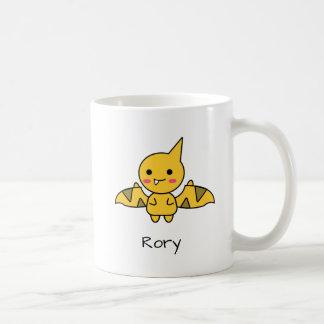 Perky Orange Flying Dinosaur Kawaii Cartoon Coffee Mug