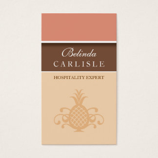 Perky Pineapple Biz Card (Peach)