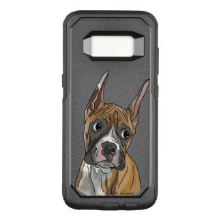 Perky Red Fawn Boxer Dog OtterBox Commuter Samsung Galaxy S8 Case