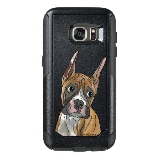 Perky Red Fawn Boxer Dog OtterBox Samsung Galaxy S7 Case