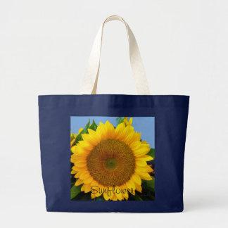 Perky Sunflower Jumbo Tote Bag