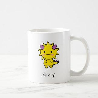 Perky Yellow Dinosaur Kawaii Cartoon Coffee Mug