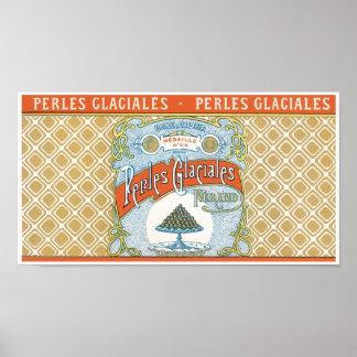 Perles Claciales Label Poster