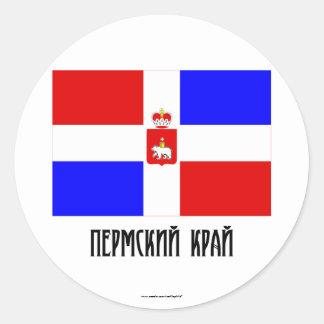 Perm Krai Flag Round Sticker