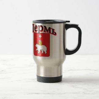 Perm Russia Flag Travel Mug