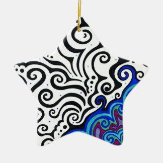 Permafrost Ceramic Star Decoration