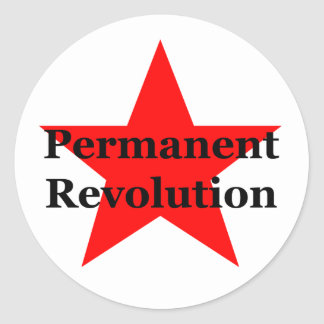 Permanent Revolution Classic Round Sticker