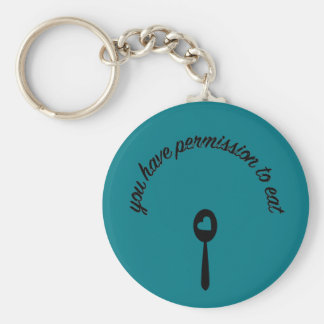 Permission Basic Round Button Key Ring