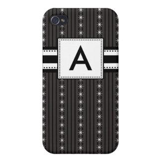 Pern Initial Mod Black Stripes iPhone 4 Covers