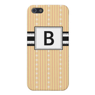 Pern Monogrammed Yellow Stripes Cases For iPhone 5