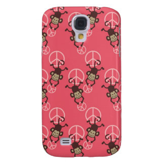 - Pern Pink Peace Signs Monkey Galaxy S4 Cases