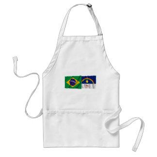 Pernambuco & Brazil Waving Flags Standard Apron