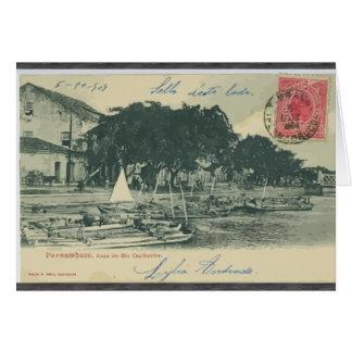 Pernambuco  Cura De Rio Capibaribe, Vintage Greeting Card