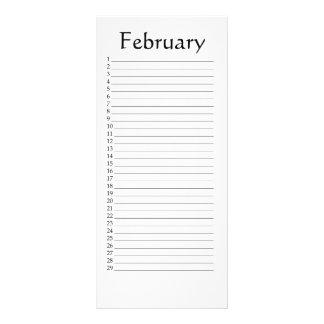 Perpetual Calendar February Scripture Rack Card