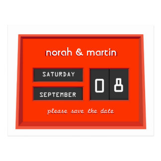 Perpetual Calendar Save the Date Announcement II Postcard