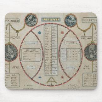 Perpetual Republican Calendar, June 1801 Mouse Pads