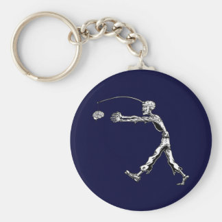 Perpetual Zombie Basic Round Button Key Ring