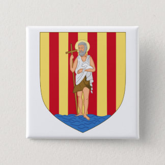 Perpignan Coat of Arms 15 Cm Square Badge