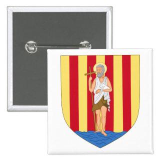 Perpignan Coat of Arms 15 Cm Square Badge