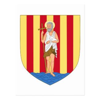 Perpignan Coat of Arms Postcard