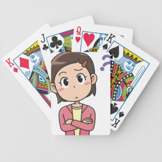 Perplexed Bicycle Playing Cards