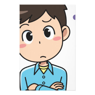 Perplexed Boy Stationery