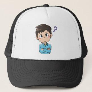 Perplexed Boy Trucker Hat