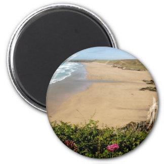 Perranporth Beach 6 Cm Round Magnet