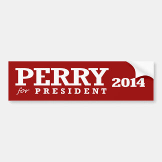 PERRY FOR PRESIDENT BUMPER STICKERS