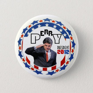 Perry for Prez in 2012 6 Cm Round Badge