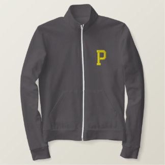 Perry Last Name University Embroidered Zip Jacket