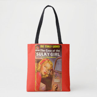 Perry Mason Case of the Sulky Girl book cover Tote Bag