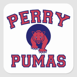 Perry Pumas Square Sticker
