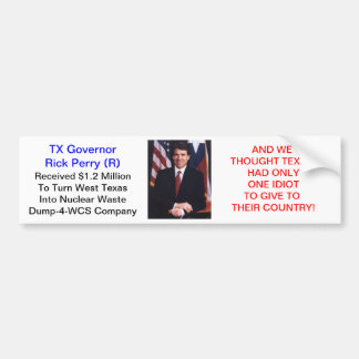 Perry's Glow-N-The Dark Texas Bumper Stickers