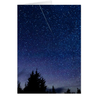 Perseid Meteor Shower Card