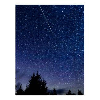 Perseid Meteor Shower Postcard