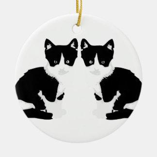 """persephone&hades"" tuxedo cat ornament"