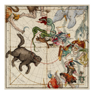 Perseus, Hercules, Cassiopea and  Andromeda Poster