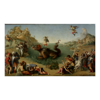 Perseus Rescuing Andromeda Poster